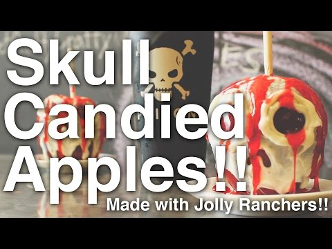 How To Make: Skull Candied Apples!!