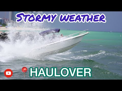 Boats Fighting the Waves+Jet skis&Yacht/Haulover Inlet