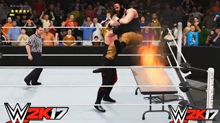 WWE 2K17-Kane vs. Braun Strowman- Extreme Rule Match- Wrestlemania- Gameplay  (PS4)