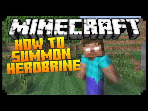 Minecraft: How To Summon Herobrine Minecraft Command Block Tutorial