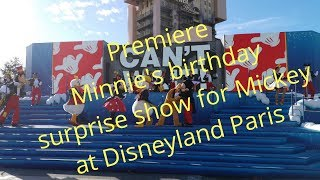 Minnie's birthday surprise show for Mickey at Walt disney studios at Disneyland Paris