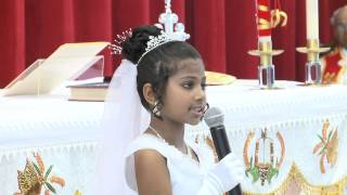 Teresa Angilivelil Speech During First Holy Communion