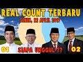 Mengejutkan!!! Real Count KPU 22 April 2019, Siapa yg unggul Prabowo atau Jokowi