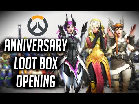 Free Watch  opening 31 overwatch anniversary event loot bo a bunch ofendary skins 100 subs Movie Trailer