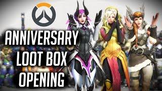 50x Overwatch Anniversary Loot Box Opening!