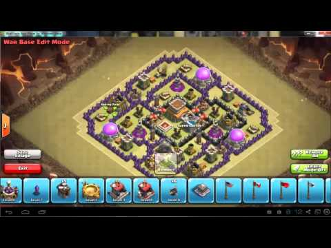 Clash of clans th8 clan wars base speedbuil youtube