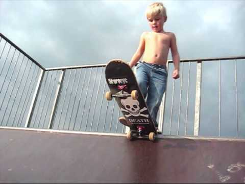 4 year old skateboarder - Youtube