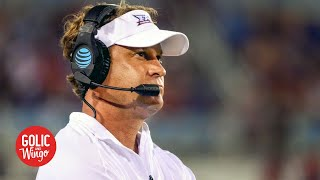 Lane Kiffin stunned that Ole Miss is playing Auburn, LSU and Alabama in a row | Golic and Wingo