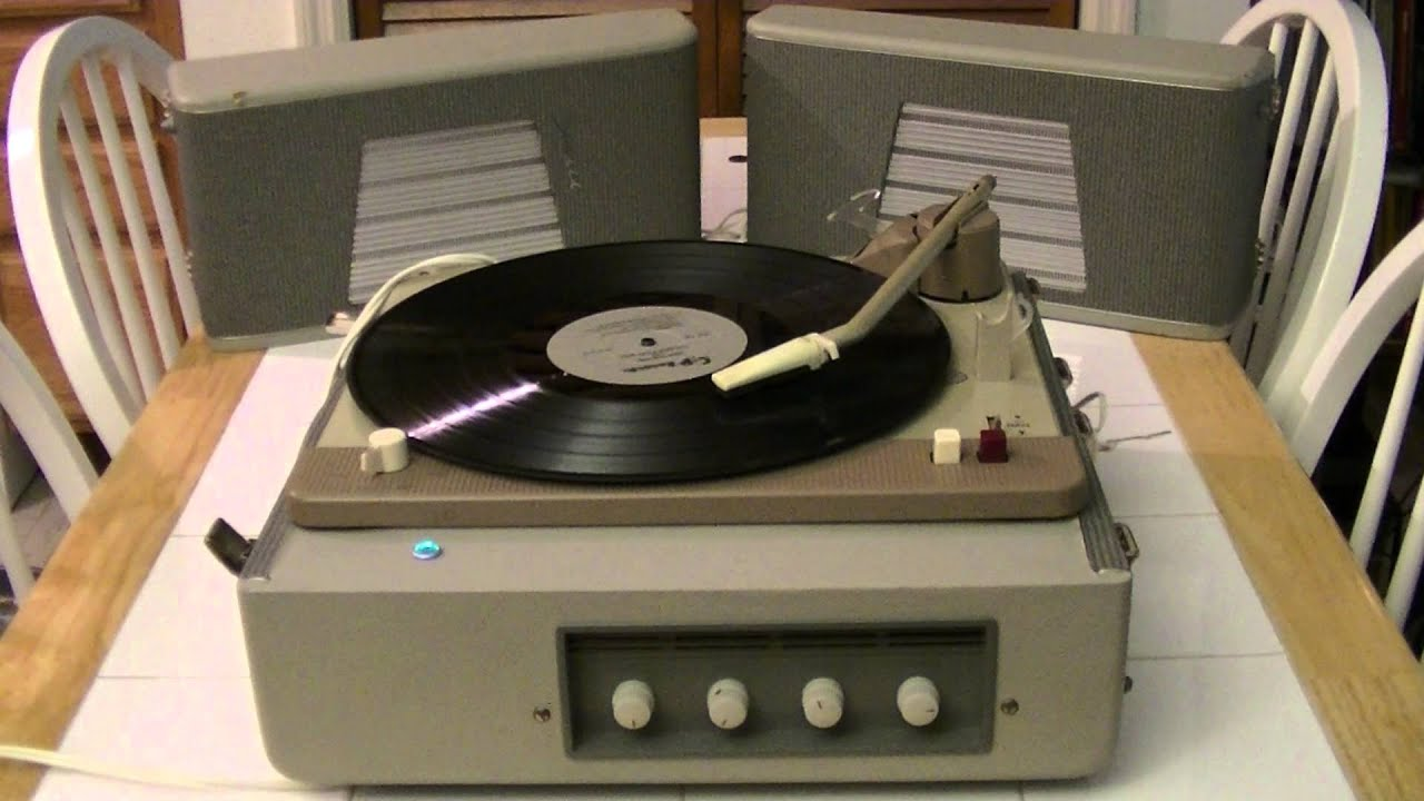Mercury Philips Portable Tube Record Player Model Ag