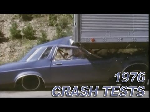 INCREDIBLE: Trailer Underride IIHS's 1976 Crash Tests