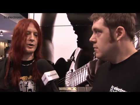 Michael Amott of Arch Enemy at TC Electronic's NAMM '09 booth