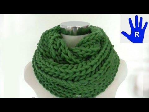Stricken - Loop oder Schal im Patentmuster aus HATNUT cool von Pro Lana