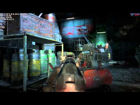Metro Last Light FPS na tela