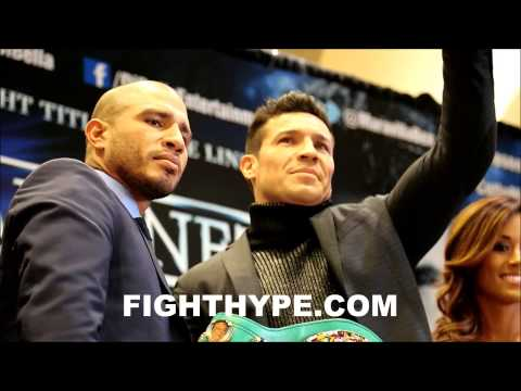 MIGUEL COTTO VS SERGIO MARTINEZ FACEOFF IN NEW YORK
