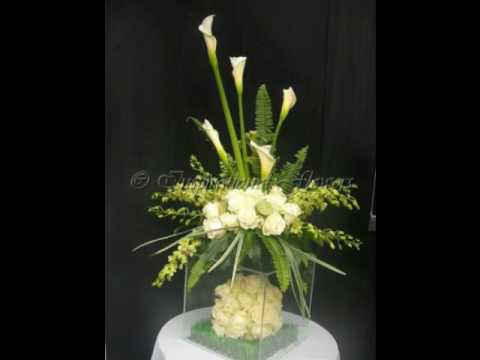 Table Centres for events from Inspirational Flowers the event florist