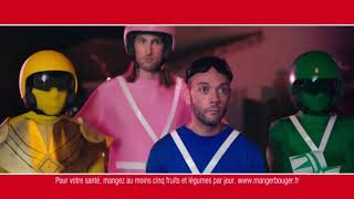 Pub HARIBO Dragibus Soirée Déguisé Power Rangers - Je préfère les bleus