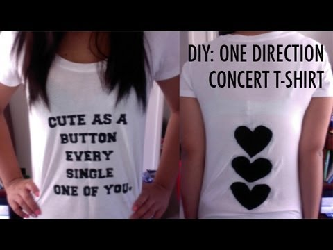 DIY: One Direction Concert T-Shirt