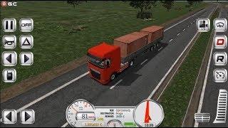 "Euro Truck Evolution Simulator - Red Truck ""Map Praga"" Driver Simulation - Android Gameplay FHD #3"