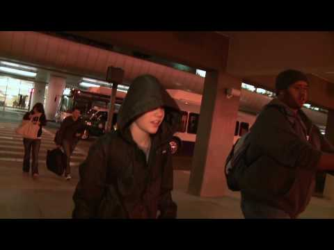 Justin Bieber Arrives in LA for the Grammy's