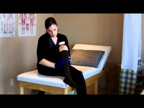 How to put on and take off compression stockings