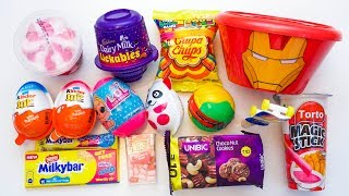 Toy Candies, kinder joy, lickables, Ice cream and other chocolates