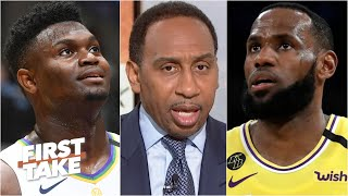 Stephen A. reacts to LeBron vs. Zion | First Take