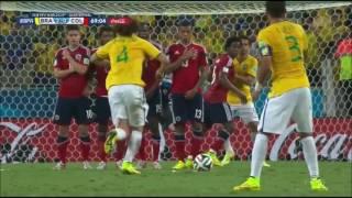 David Luiz punizione vs Colombia Mondiale 2014