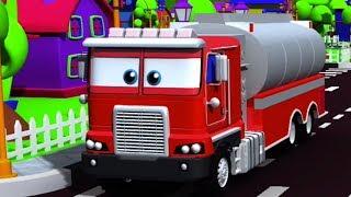 agua caminhão tenro   desenho animado   desenho infantil   crianças Vídeo   Water Tender Truck