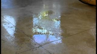 DIY Etch and spot polishing on travertine floor