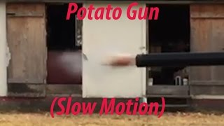 Potato Cannon Testing (Slow Motion)