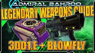 "Borderlands The Pre-Sequel: The ""3DDI.E and Blowfly"" - Legendary Weapons Guide"