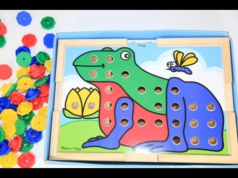 Melissa & Doug Sort and Snap Color Match Toy Puzzle Review FAVORITE TOY For CHRISTMAS - Educational