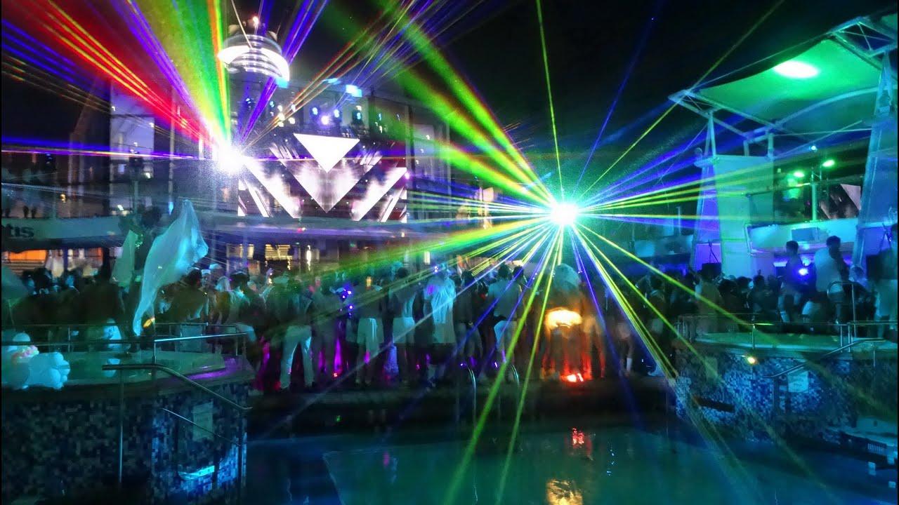 Atlantis Gay Cruise Mediterranean 2014 Night Pool Party 1