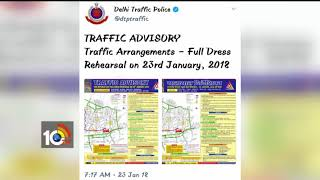 Traffic Restriction in Central Delhi | Republic Day Rehearsals | Delhi