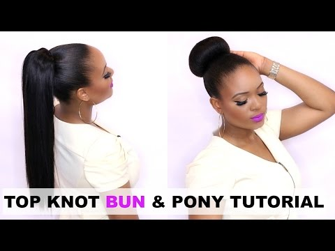 HOW TO : TOP KNOT BUN & PONY TAIL HAIR TUTORIAL   OMABELLETV