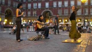 Tablao Flamenco en la Plaza Mayor de Madrid