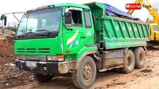 Song for kids ♫ Excavator and Dump Truckfor Kids