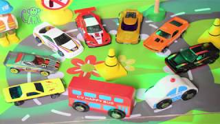 Learn Colours using cars. Fun video for preschool kids