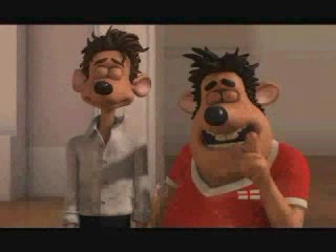 Characters from 'Flushed Away' singing the gay barbie song.