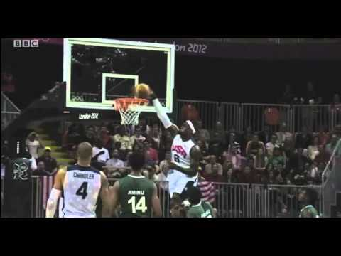 USA 156 vs Nigeria 73 Olympic men's Basketball 2012