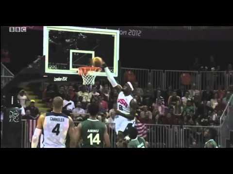 USA 156 vs Nigeria 73 Olympic men's Basketball 2012