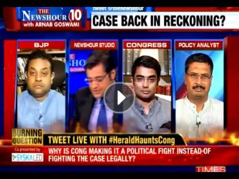 BJP Vs Congress Over Herald  The Newshour Debate 18th Sep 2015
