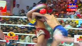 Kun Khmer, Chhoeurn Chhaiden Vs Thai, SEATV boxing, 9 July 2017, Black Cat arena,k o