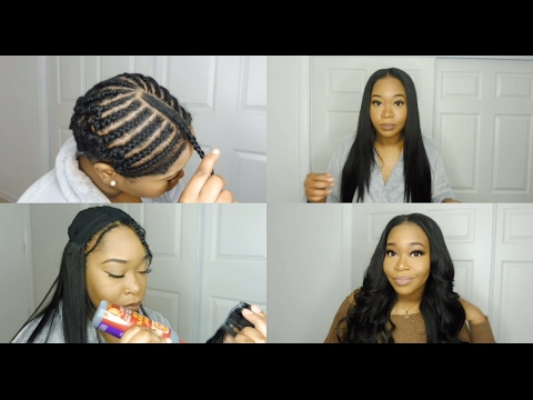 My Middle Part Quick-Weave Install   Peerless Hair Peruvian Straight Hair