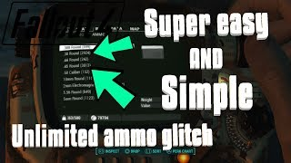 Fallout 4 || Unlimited ammo glitch **FAST, EASY, and SIMPLE**
