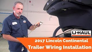 2017 Lincoln Continental Trailer Wiring Installation