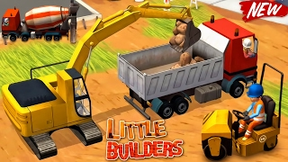 Little Builders - Video for Kids : Trucks, Cranes, Digger | New Fun Construction Games for Children