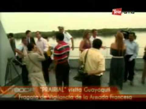 PRAIRIAL visita Guayaquil Fragata de vigilancia de la armada francesa
