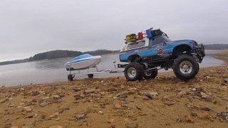 **Thrasher XT Jet boat Launch Tamiya Bruiser***Tybo's RC Motorsports** Pure RC 4x4
