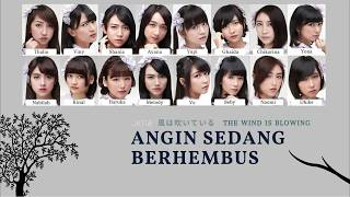 JKT48 - Angin Sedang Berhembus (風は吹いている | Kaze wa Fuiteiru) [Color Coded Lyrics/KAN/ENG/IDN]